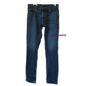 Hollister Mens Blue Jeans Size 34x34 Slim Straight